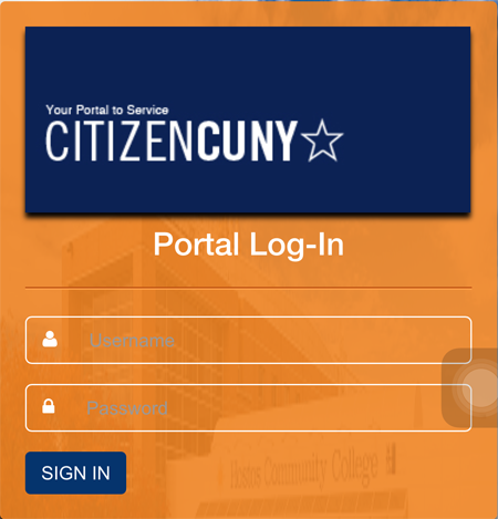Enter CUNY Portal credentials